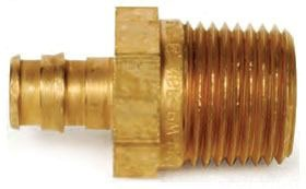 "LF4525050 1/2"" PEX X MALE MIP BRASS ADAPTER AQUAPEX WIRSBO, LEAD FREE"