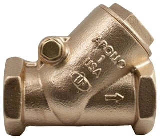 "61YLF19201 3/8"" APOLLO 125# WSP 200# WOG BRZ SWING CHECK VALVE **LEAD FREE** MODEL #: 161T38LF"