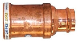 """3""""x2"""" Copper Press Coupling with Stop"""