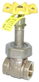 "3020601 1-1/4"" APOLLO 150# WSP 300# WOG BRZ GATE VALVE RS UB MODEL #: 107T114"