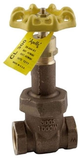 "3044701 1-1/2"" APOLLO 300# WSP 1000# WOG BRZ GATE VALVE RS UB MODEL #: 111T112"