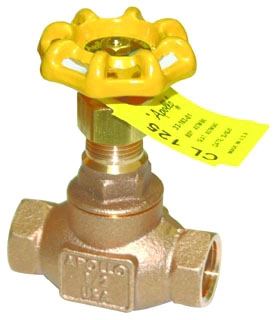 "3316401 3/4"" APOLLO 125# WSP 200# WOG BRZ GLOBE VALVE MODEL #: 121T34"