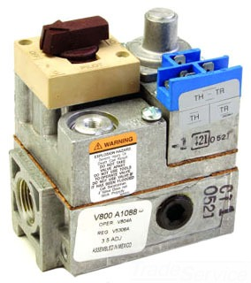 """V800A1088 HONEYWELL 3/4"""" Standing Pilot GAS VALVE 24-VOLT"""