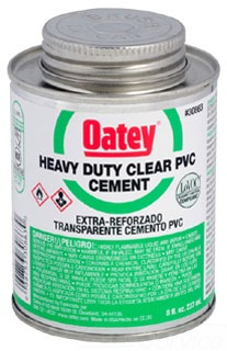 OATEY 30863 8OZ PVC CEMENT-HD CLR