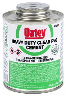 OATEY 30876 16OZ PVC CEMENT-HD CLR