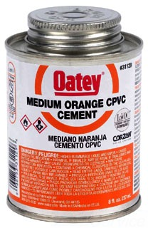 31129 OATEY 8OZ CPVC GLUE (ORANGE) ( FOR FLOWGUARD CTS)