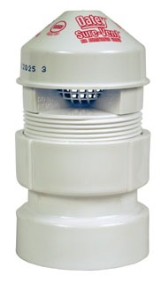 "39016 OATEY 2"" SURE VENT II WITH 1-1/2 TO 2"" PVC ADAPTER 20 DFU"