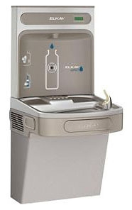 EZS8WSLK ELKAY 8GallonWALL MOUNT SINGLE ADA WATER COOLER WITH EZH2O BOTTLE FILLING STATION NON-FILTERED LIGHT GRAY