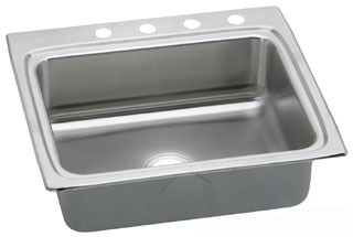 LR2522-3 ELKAY 25X22 18 GAUGE S.S. 3 HOLE SINGLE BOWL LUSTERTONE SINK