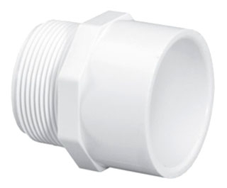 "4604-60 6"" SCH 40 PVC MALE ADAPTER (436-060 LASCO)(PVC 2109)"
