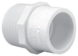 "4604-1014 1X1-1/2"" SCH 40 PVC REDUCING MALE ADPT [436-133 SPEAR] (MIP X SOC)"