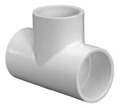 """4611-10 1"""" SCH 40 PVC TEE (401-010 LASCO)(PVC 2400)"""