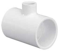 "4611-2012 2""X1-1/4"" SCH 40 PVC TEE (401-250 LASCO)(PVC 2400)"