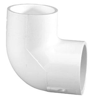 """4607-10 1"""" SCH 40 PVC 1/4 (90) ELL (406-010 LASCO)(PVC 2300)"""