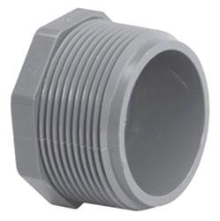 4516T-10 1 SCH.80 PVC THREADED PLUG (8113)