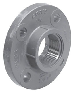 "4541T-14 - 1 1/2"" SCH 80 PVC THREADED FLANGE (8560) (LASCO 852-015)"