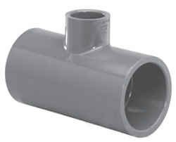 "4511-1004 1"" X 1/2"" SCH 80 PVC SOC TEE (801-130 LASCO)(PVC 8400)"