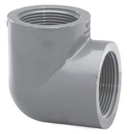 """4507T-12 1-1/4"""" SCH 80 PVC THD 1/4 (90) ELL (PVC 8302)"""