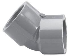 """4506-04 1/2"""" SCH 80 PVC SOC 1/8 (45)ELL (PVC 8309) (817-005)"""