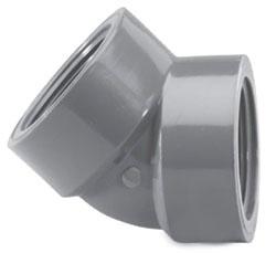 """4506T-14 1-1/2"""" SCH 80 PVC THD 1/8 (45) ELL (PVC 8312)(819-015)"""