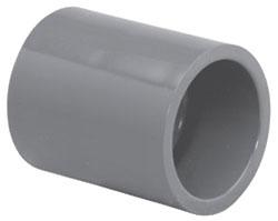 """4500-14 1-1/2"""" SCH 80 PVC SOC COUPLING (829-015 LASCO)(PVC 8100)"""