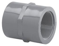 "4500T-02 1/4"" SCH 80 PVC THD COUPLING"