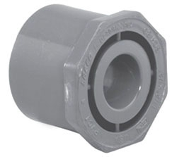 4518-6040 6 X 4 SCH 80 PVC SOC REDUCER BUSHING- FLUSH STYLE (837-532 LASCO)