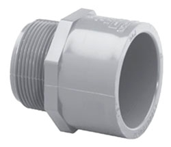 "510412 1-1/4"" CPVC SCH 80 MALE ADAPTER -MIPT X SOC"