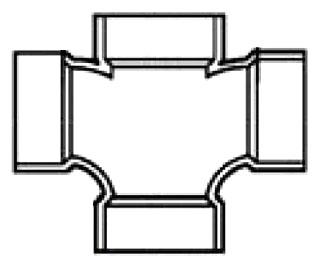 """2""""X1-1/2"""" PVC DWV Cross"""