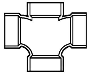 """2"""" PVC DWV Cross"""