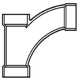 """4"""" PVC DWV Wye-1/8 Bend"""