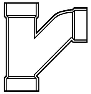 """8"""" PVC DWV Combo Wye-1/8 Bend"""