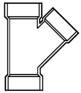 "1-1/2"" PVC DWV Wye"