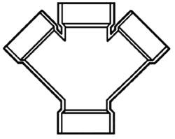 """4834-60 6"""" PVC DWV DOUBLE WYE (D611-060 LASCO - 611 CHARLOTTE)"""