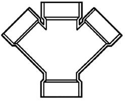 "4""X2"" PVC DWV Double Wye"