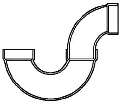 """4"""" PVC DWV P-Trap"""