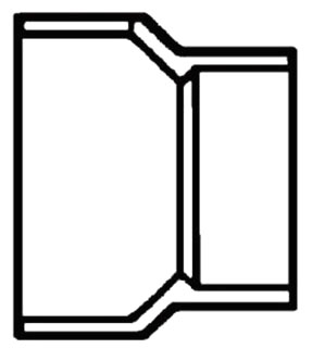 """3""""X1-1/2"""" PVC DWV Reducer"""