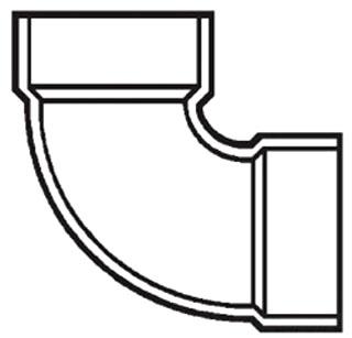 """6"""" PVC DWV 1/4 (90) Elbow"""