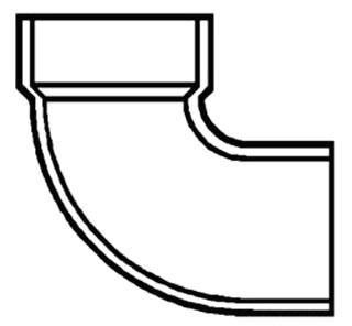 """2"""" PVC DWV Street 1/4 (90) Elbow"""