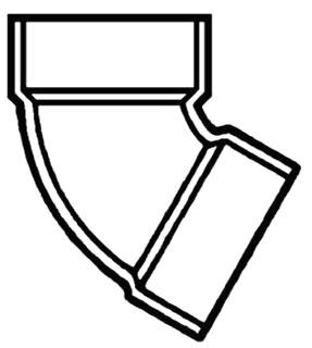"""4"""" PVC DWV 1/6 (60) Elbow"""