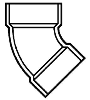 "1-1/2"" PVC DWV 1/8 (45) Ellbow"