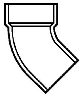 """6"""" PVC DWV Street 1/8 (45) Elbow"""