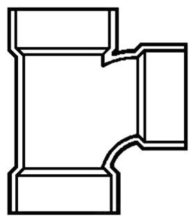"""2"""" PVC DWV Tee"""