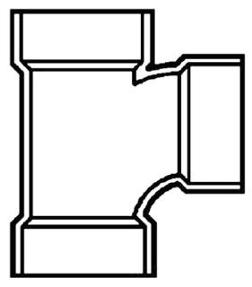 """4""""X3"""" PVC DWV Tee"""