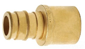 """Q4515075 1/2"""" PEX X 3/4 COPPER SWEAT BRASS AQUAPEX ADAPTER Not approved for Potable Water 2014"""