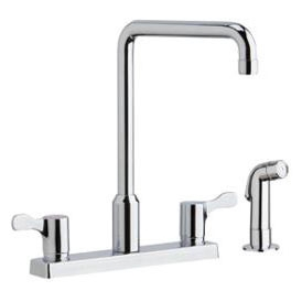 LKD2443C ELKAY HI-ARC DUAL HANDLE KITCHEN FAUCET W/SPRAYER