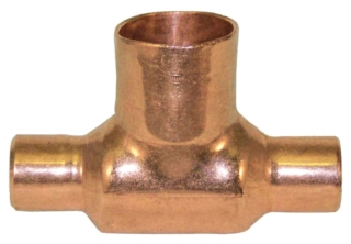"3/4"" X 1"" Tee - Copper Sweat"