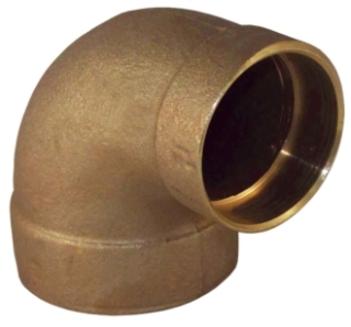 "1-1/4"" X 3/4"" 90 Degree Reducing Elbow - Copper Sweat"