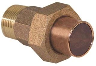 """1/2"""" Union X Male (MIP) - Copper Sweat Lead Free"""