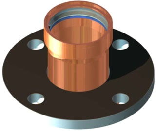 "2-1/2"" Copper Press Flange"